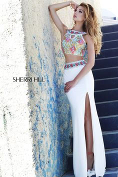 two piece crop top look from Sherri Hill