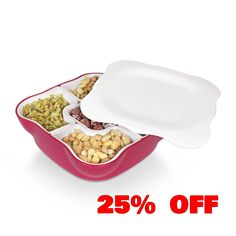 Take 25 % off our Serving Tray with Lid and Removable Compartments! Today only at 1sale.com! Offer ends 12 AM EST! Click to claim deal! @1sale