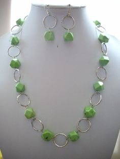 Pale Lime Green Magnesite Nugget Beads and by DesignsbyPattiLynn, $55.00