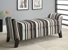This beautiful bench doubles as a storage space for blankets, pillows and the like!