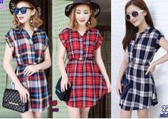 Karina Mini Dress S-L Free Size Jogger Pants, Joggers, Affordable Clothes, Jeggings, Jumpsuit, Pullover, Boutique, Mini, Check