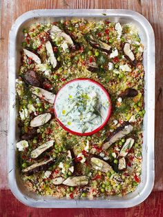 Jamie Oliver - Greek chicken with herby vegetable couscous & tzatziki