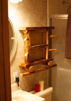 Rustic bathroom Rustic home decor Log furniture by AspenSpirit                                                                                                                                                                                 More