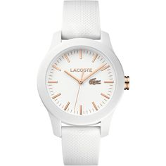 The iconic watch family for ladies: the essence of the Lacoste poloshirt translated into a watch collection. Wrap Watches, Jewelry Watches, White Watches, Bracelet Cuir, Bracelet Watch, Mens Gift Sets, Watch Bands, Michael Kors Watch, Women's Fashion