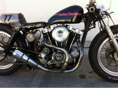 Café Racer Harley Ironhead 1000cc of 1977 with ONLY 6500 miles... | Flickr - Photo Sharing!