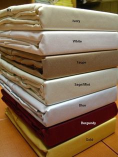 Queen Solid 600 Thread count 100% Egyptian cotton Sheet sets $79.99 www.scotts-sales.com