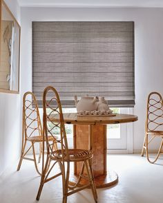 Check out our large collection of window treatments, including shades, blinds, draperies and curtains. Free samples are available of all our materials. Woven Wood Shades, Decorative Borders, Design Consultant, Get The Look, Window Treatments, Blinds, Dining Table, Windows, Modern