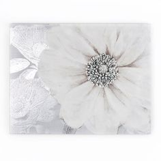 Grey Bloom Printed Canvas Wall Art by Graham and Brown