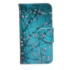 Luxury Cartoon Flower Leather slot wallet flip stand case skin cover For Samsung Galaxy S5 i9600 G900 Free Shipping