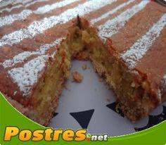 Receta con Thermomix: Tarta de almendras y cabello de ángel,  Rica tarta elaborada con ingredientes naturales como almendras y cabello de ángel. Ideal para una merienda entre amigos.