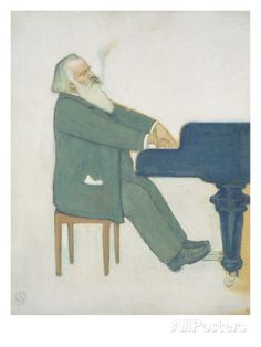 Johannes Brahms at the Piano Giclee Print by Willy von Beckerath at AllPosters.com