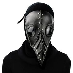 Plague Doctor Nose Gears Chains Bird Raven Mask Halloween Costume Prom Party2018
