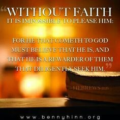**Without faith. Bible verse quote