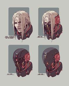 Новости Cyberpunk Character, Cyberpunk Art, Robot Design, Helmet Design, Character Concept, Concept Art, Character Art, Sci Fi Art, Design Reference