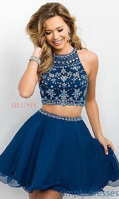 Blue Chiffon Two Piece Intrigue by Blush Party Dress Chiffon Party Dress Blue Party Dress Two Pieces Party Dress Blush Party Dress Prom Dresses 2019 Blush Formal Dresses, Semi Dresses, Cute Prom Dresses, Dresses For Teens, Dance Dresses, Ball Dresses, Pretty Dresses, Evening Dresses, Prom Gowns