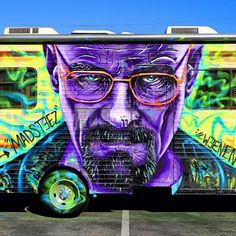 "Somewhere in California. | Brilliant ""Breaking Bad"" Street Art From Around The World"