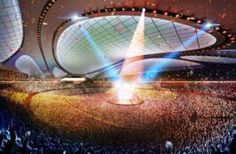 Alien Athletic Architecture - The Tokyo 2020 Olympic Stadium Has a Glass Roof and Seats 80,000 (GALLERY)