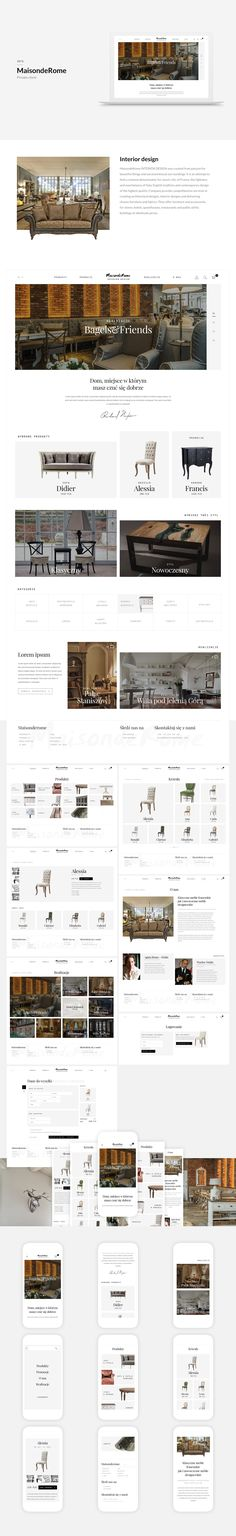 MaisondeRome INTERIOR DESIGN created from passion for beautiful things and…