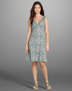 Women's Surplice Knit Dress - Print | Eddie Bauer