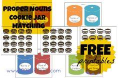 FREE Printable Proper Nouns Cookie Jar Matching Game