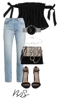 #874 by blendingtwostyles on Polyvore featuring polyvore, fashion, style, Yves Saint Laurent, Steve Madden, Chloé, Topshop, Noir Jewelry and clothing