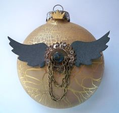 steampunk christmas ornaments | Twelve Days Of Christmas - Day 7 | Jeannies Blog