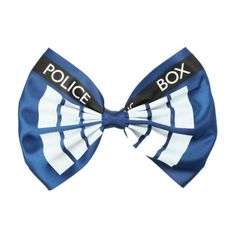 Doctor Who TARDIS Oversized Hair Bow   Hot Topic ($6.50) ❤ liked on Polyvore featuring accessories, hair accessories, hair bow accessories and oversized hair bows