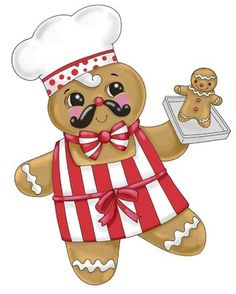 chef.quenalbertini: Gingerbread Chef by Ronnie Rooney, Medium