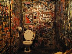 CBGB's bathroom.