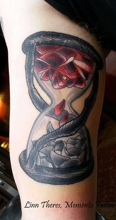 Little hourglass done at Bu Hu Tattoo -Bodø.  -Inside of the upperarm. http://tattoo-ideas.us