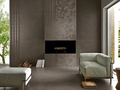 Kerlite Living Room and Fireplace Surround Application