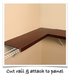 Easy Install : Renew, Shelf Covers For Wire Shelves. What a great idea. Could also be DIY if you have some basic woodworking skills