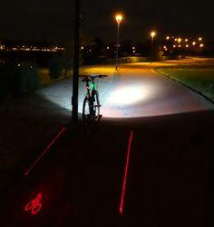 Luz trasera laser