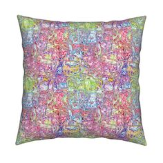 Catalan Throw Pillow featuring MELTED ICECREAM AND LIMONADE  SUMMER SWEETIES by paysmage | Roostery Home Decor