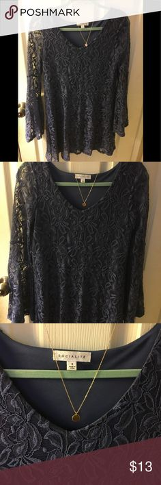 Blue boho dress Very cute. Worn once. Great condition. Color is a deep blue violet. Dresses Mini