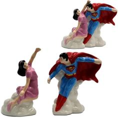 Experience the adventure that is Superman at your dinner table with these Superman and Lois Lane Salt & Pepper Shakers. The man of steel is now a man of Superman Love, Superman And Lois Lane, Superman Stuff, Action Comics 1, Dc Comics, Salt Pepper Shakers, Salt And Pepper, Mighty Mouse, Bonnie Tyler