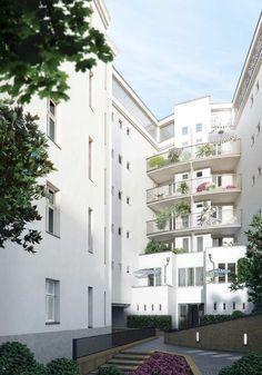"""Das in den frühen 90er-Jahren gebaute Haus """"Luv"""" ist modern und lichtdurchflutet. Es wartet mit einer Besonderheit auf: Im sechsten Obergeschoss befinden sich Hobbyräume, fast alle haben eine Dachterrasse."""