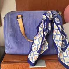 Beautiful Carolina Herrera Andy Handbag. Very good condition. Leather bag. Can be sold with or without the silk handkerchief. Carolina Herrera Bags