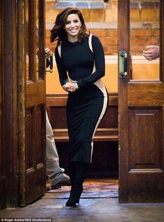Making an entrance: Eva Longoria appeared to be in her element as she arrived at the Oxfor...