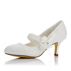 Women's Shoes Lace Satin Winter Fall Comfort Heels Round Toe Appliques for Wedding Dress Party & Evening Ivory - AUD $54.04 ! HOT Product! A hot product at an incredible low price is now on sale! Come check it out along with other items like this. Get great discounts, earn Rewards and much more each time you shop with us!