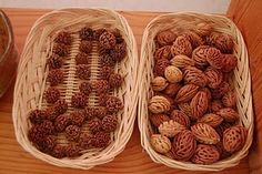 peach pits--a reminder that there are natural objects other than sticks, rocks, and pinecones that would make nice toys.