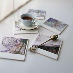 DIY Coasters DIY Hipstagram Polaroid Photo Coasters DIY Coasters