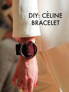 DIY Celine Leather Ring Cuff Tutorial from DeSmitten.This is a...