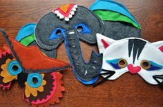 Once my kid starts liking masks, I will be making some of these. Or perhaps these would convince her masks can be awesome.