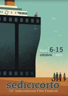Davide Bonazzi - The immigrants. Client: Sedicicorto 14th Film Festival. #conceptual #poster #illustration #cinema #film #movie #immigrants #ship #davidebonazzi
