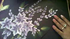 One Stroke Painting Tutorial- Purple Flower Composition