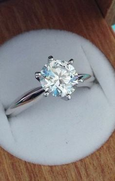 Love the classic elegance of this beautiful diamond engagement ring.