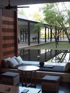 一间茶室,竟然是很多人挤破脑袋都想打造的空间 Outdoor Cafe, Indoor Outdoor, Outdoor Decor, Villa Design, House Design, Chinese Tea Room, Interior Architecture, Interior Design, Balcony Design