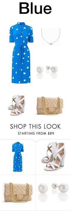 """""""Blue"""" by realjulielarsen ❤ liked on Polyvore featuring L.K.Bennett, Miss KG, Chanel, Minnie Grace and Blue"""