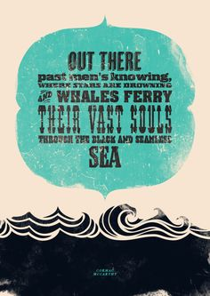 Typographically molded quotes - March #16 | Cormac McCarthy